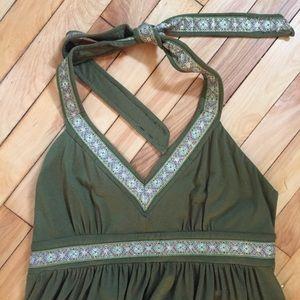 Nicole Miller halter empire waist dress, size 6/8